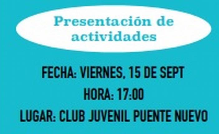 Presentación de las actividades del club