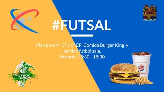Sábado 4 de noviembre. Futsal para 4º, 5º y 6º de EP