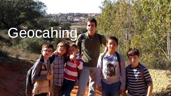 Geocahing con los más pequeños