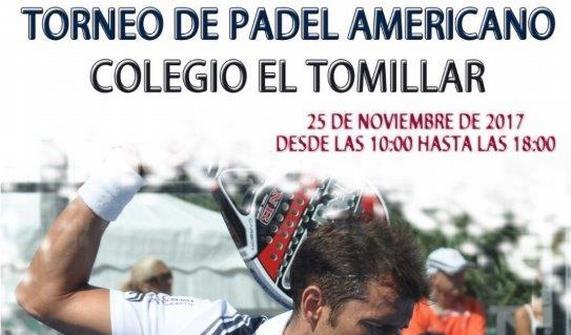 TORNEO PADEL AMERICANO. SÁBADO 25 NOVIEMBRE.