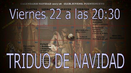 TRIDUO DE NAVIDAD. VIERNES 22. TODA LA FAMILIA