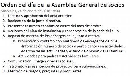 Asamblea General de Socios del Club Puentenuevo