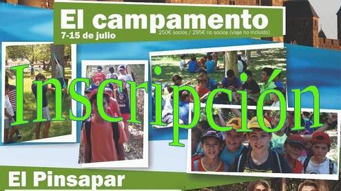 7 al 15 de julio el Pinsapar.Inscripción