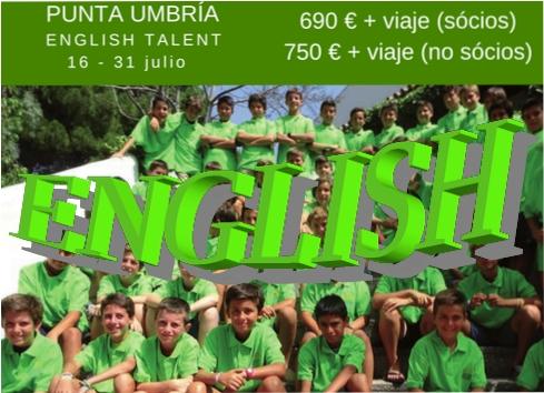 PUNTA UMBRIA. ENGLISH TALENT. 16 AL 31 JULIO