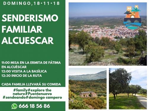 18 Noviembre senderismo familiar en Alcuescar