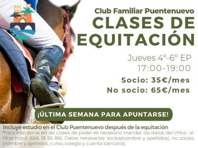 Jueves equitación y+